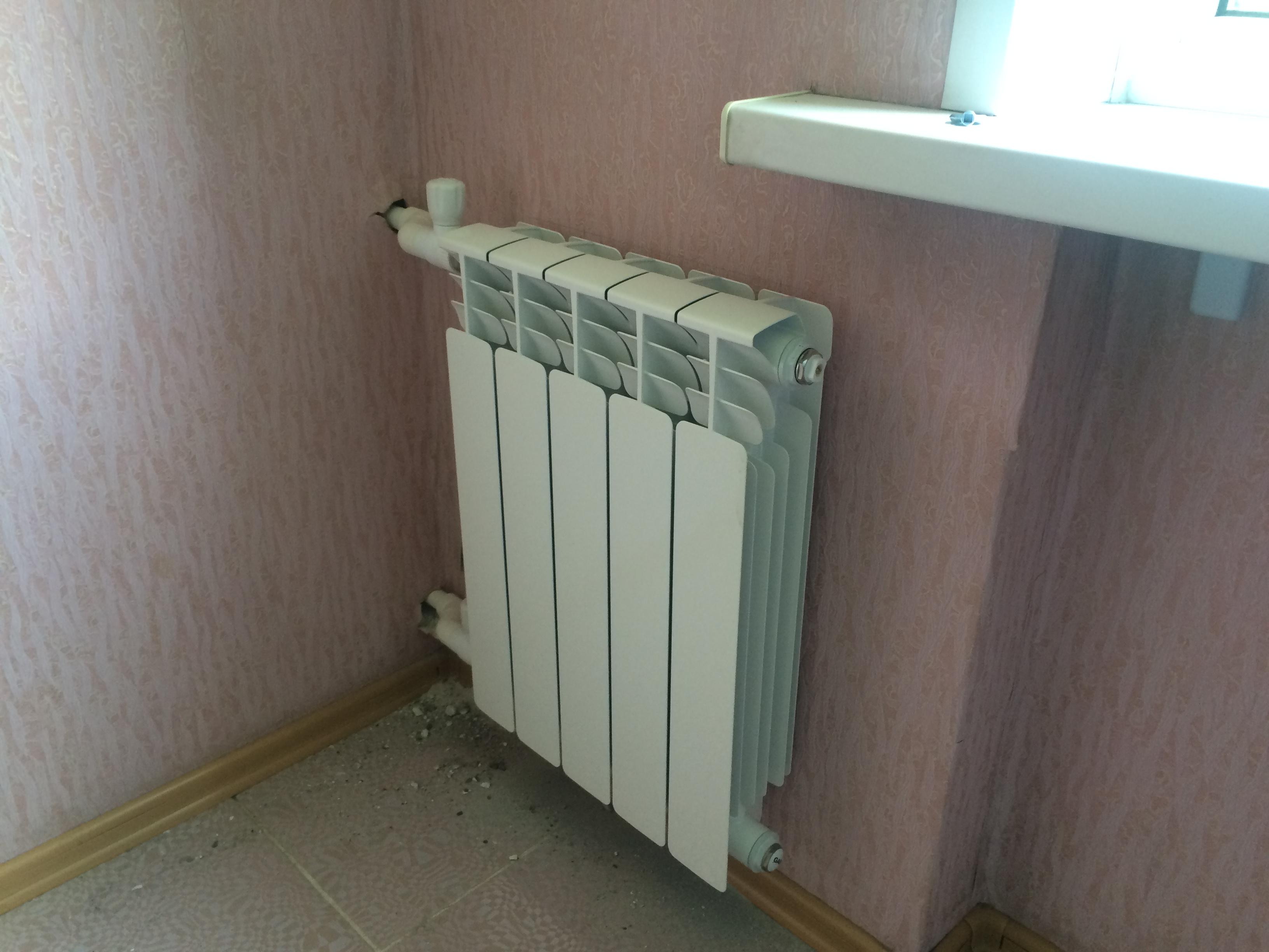 Замена батарей в квартире самара