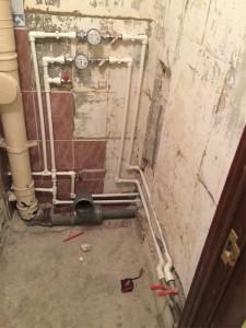 установка водопровода